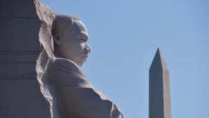 تمثال لمارتن لوثر كينغ في العاصمة الأمريكية واشنطن