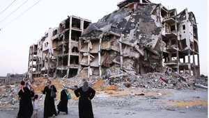 مبنى دمرته الغارات الإسرائيلية في غزة