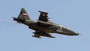 مقاتلة من طراز سوخوي روسية الصنع تابعة للجيش العراقي