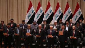 حكومة رئيس الوزراء حيدر العبادي خلال أداء اليمين أمام البرلمان 8 سبتمبر/ آيلول 2014