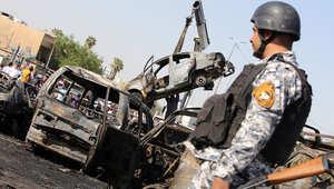العراق: مقتل 11 وجرح 34 بتفجيرين انتحاريين بسوق مزدحم ومطعم في بغداد