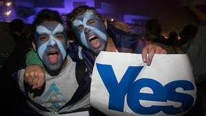 مؤيدون للانفاصال يجتمعون أما البرلمان الاسكتلندي
