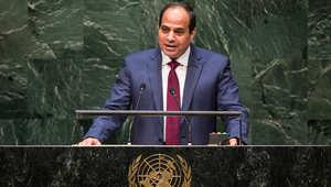 الرئيس المصري عبد الفتاح السيسي خلال إلقاء كلمة مصر في الجمعية العامة للأمم المتحدة 24 سبتمبر/ أيلول 2014