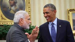 الرئيس الأمريكي باراك أوباما يجتمع مع رئيس الوزراء الهندي نارندرا مودي في البيت الأبيض