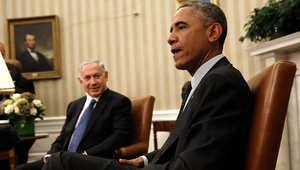 اء سابق بين الرئيس الأمريكي باراك أوباما ورئيس الوزراء الإسرائيلي بنيامين نتنياهو في البيت الأبيض، 1 أكتوبر/ تشرين الأول 2014