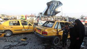 آثار انفجار في مدينة الصدر 14 اكتوبر/ تشرين الأول 2014