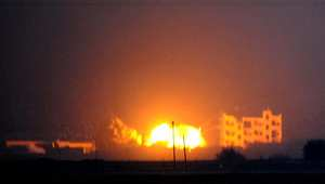 """غارة لطيران التحالف على عين العرب """"كوباني"""" 25 أكتوبر/ تشرين الأول 2014"""