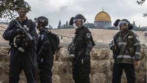 عناصر من الشرطة الإسرائيلية في القدس خلال صلاة الجمعة 31 أكتوبر/ تشرين الأول 2014