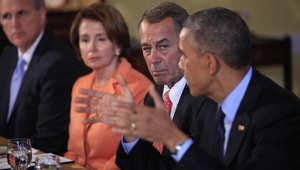 أوباما في لقاء مع قيادات من الكونغرس