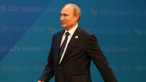 الرئيس الروسي فلاديمير بوتن في مركز المؤتمرات والمعارض في بريسبان