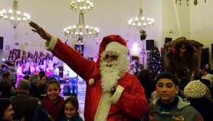 سانتا كلوز في دمشق 23 ديسمبر/ كانون الأول 2014