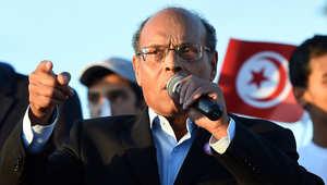 المنصف المرزوقي، الرئيس التونسي الحالي الذي يدافع عن موقفه في الانتخابات الرئاسية المقبلة
