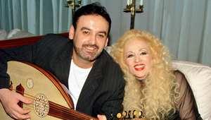 صباح مع زوجها فادي لبنان في القاهرة 29 يناير/ كانون الثاني 2002