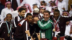 """بالصور.. قطر تتوج بلقب """"خليجي 22"""" بفوزها على السعودية بهدفين مقابل هدف"""