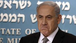 رئيس الوزراء الاسرائيلي بنيامين نتنياهو خلال مؤتمر صحفي في القدس