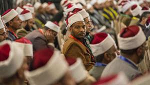 رجال دين سنة مصريون يحضرون مؤتمرا حول التطرف في الأزهر بالقاهرة