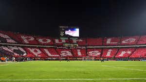 مشجعو الأهلي المصري قبل مباراة ضمن كأس الإتحاد الإفريقي