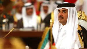 الشيخ تميم بن حمد آل ثاني أمير قطر، في افتتاح القمة الخليجية 35 في الدوحة 9 ديسمبر/ كانون الاول 2014