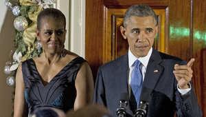 أوباما والسيدة الأولى