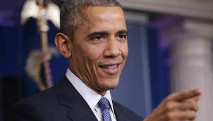 الرئيس الأمريكي باراك أوباما في مؤتمر صحفي في البيت الأبيض 19 ديسمبر/ كانون الأول 2014