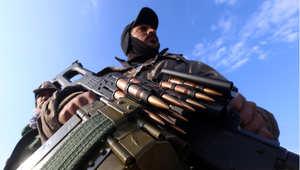 مقاتل كردي من قوات البيشمرغة