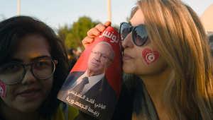 مؤيدات للرئيس التونسي المنتخب الباجي قائد السبسي