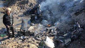 حطام الطائرة الأردنية