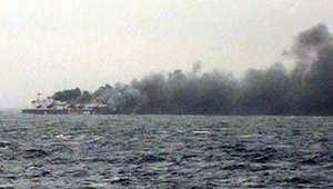 """إيطاليا.. حريق العبارة أشبه بحادثة """"تايتانيك"""".. وفاة مسافر وانقاذ 161 للآن و317 لازالوا على متنها"""