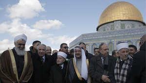 الأمين العام لمنظمة المؤتمر الإسلامي إياد مدني، خلال زيارته إلى القدس 5 يناير/ كانون الثاني 2015