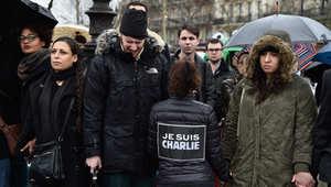 وقفة تضامنية في باريس مع ضحايا الهجوم على صحيفة تشارلي أيبدو 8 يناير/ كانون الثاني 2014