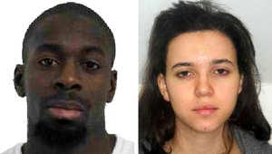حياة بومدين وزوجها كوليبالي في صورة وزعتها الشرطة الفرنسية