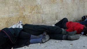 صورة أرشيفية لإعدامات سابقة نفذها التنظيم في حلب 8 يناير/ كانون الثاني 2014