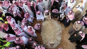 دفن الملك عبد الله بن عبد العزيز