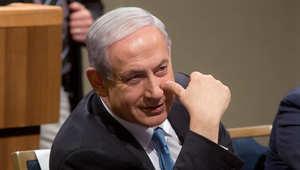 رئيس الوزراء الاسرائيلي بنيامين نتنياهو في اجتماع الحملة الانتخابية لحزب الليكود في تل أبيب