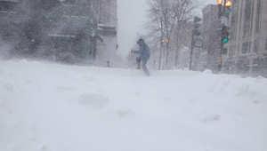 الثلوج في بوسطون