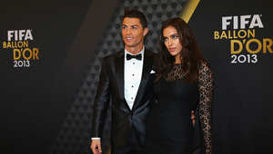 إيرينا شايك وكريستيانو رونالدو في حفل جائزة الكرة الذهبية 2013
