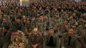 قوات إيرانية في احتفال بالذكرى 36 لعودة الأمام الخميني من المنفى 1 فبراير/ شباط 2015
