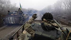 قافلة عسكرية للجيش الأوكراني في ديبالتسيف، بإقليم دونتسك 14 فبراير/ شباط 2015