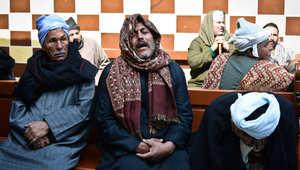 أقارب الأقباط المصريين الذين قُتلوا على يد داعش في ليبيا