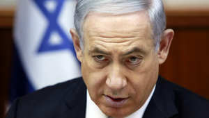 رئيس الوزراء الاسرائيلي بنيامين نتنياهو يرأس الاجتماع الاسبوعي لمجلس الوزراء في مكتبه في القدس