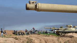 قوات تابعة وموالية للحكومة العراقية تأخذ مواقعها في ناحية العلم 8 مارس/ آذار 2015