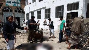بالصور.. آثار تفجيرات المسجدين باليمن