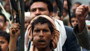 من مظاهرة تأييد الحوثي بصنعاء، 26 مارس/ آذار 2015