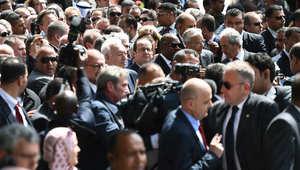 """بالصور.. مسيرة """"مناهضة للإرهاب"""" في تونس تجمع رؤساء من حول العالم"""