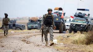 قوات الأمن العراقية عند مدخل مدينة تكريت 29 مارس/ آذار 2015