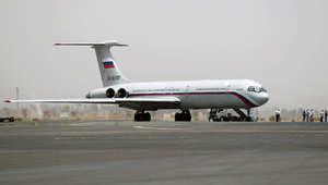طائرة ركاب روسية على مدرج مطار صنعاء لإجلاء الرعايا 6 أبريل/ نيسان 2015