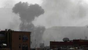 غارة لطيران التحالف الذي تقوده السعودية على فج عطان، أحد المواقع التي يسيطر عليها الحوثيون في العاصمة صنعاء، 9 أبريل/ نيسان 2015