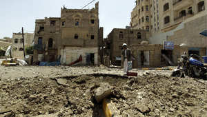 صنعاء بعد قصف مستودع الأسلحة في فج عطان