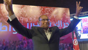 """الرئيس السابق منصف المرزوقي خلال المؤتمر التحضيري تمهيدا لإطلاق حركته الجديدة """"حراك شعب المواطنين"""""""