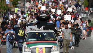 مسيرة سلمية في مدينة بالتيمور بولاية مريلاند، 2 مايو/ أيار 2015